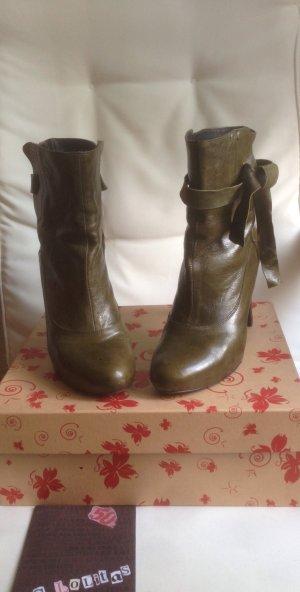 Leder Ankle Boots Stiefelette Gr. 39