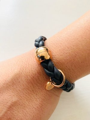 Leder Armband geflochten - qudo Codino - roségold