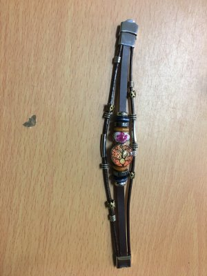 Leder Armband mit Chunck , neu