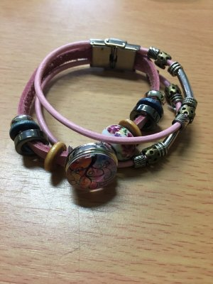Leder Armband mit Chunck neu