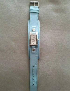 Leder-Armbanduhr