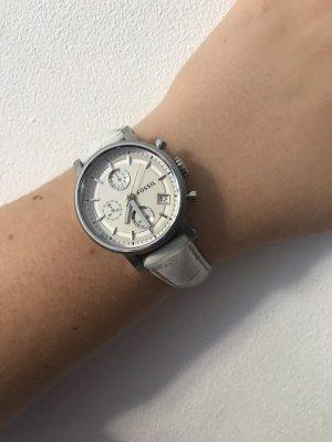 Leder-Armbanduhr Fossil