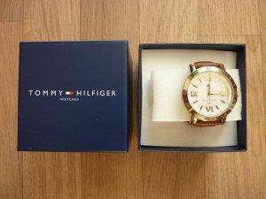 Leder Armbanduhr Tommy Hilfiger braun Damenuhr