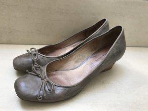 5th Avenue Bailarinas con tacón Mary Jane marrón grisáceo