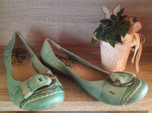 Leder Ballerina Pastell grün