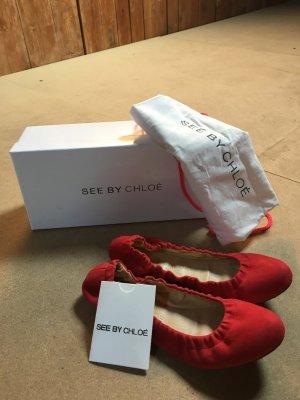 Leder Ballerinas - See by Chloe