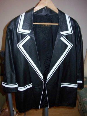 Leather Blazer black leather