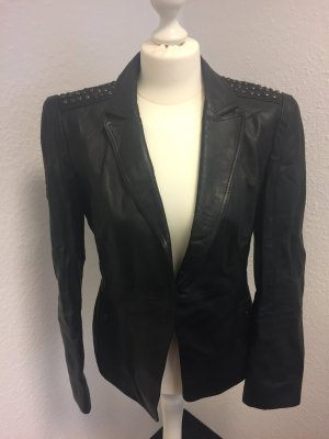 Betty Barclay Blazer de cuero negro