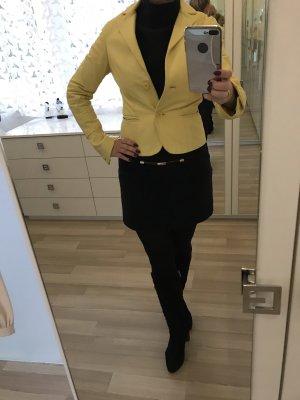 Leren blazer geel