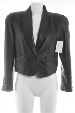 Leather Blazer black casual look