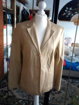 Amy Vermont Leather Blazer sand brown-camel leather