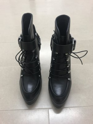 Zara Lace-up Booties black