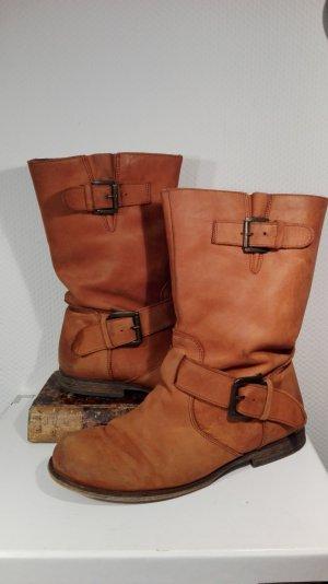 Leder Boots cognac farben