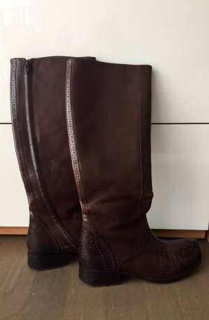 Leder boots, Gr. 38, Made in Italy