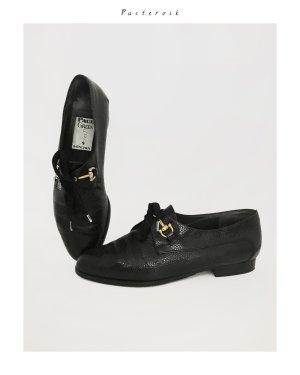 Leder Budapester Loafer Schnürer Halbschuhe Schuhe Blogger Gold Paul Green