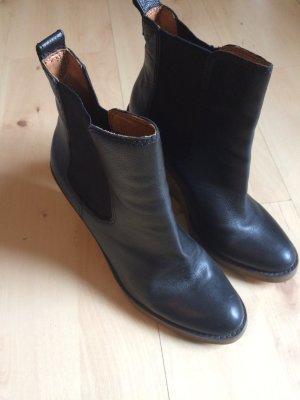 Leder Chelsea Boots Plateau