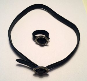 Tom Shot Collier noir cuir