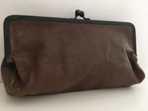 All Saints Clutch bruin Leer