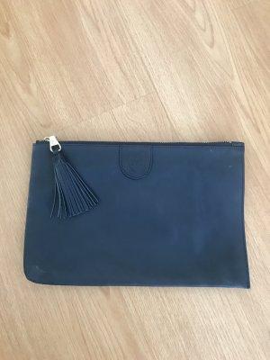 Massimo Dutti Bolso de mano azul oscuro