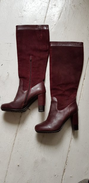 Jette Heel Boots bordeaux leather