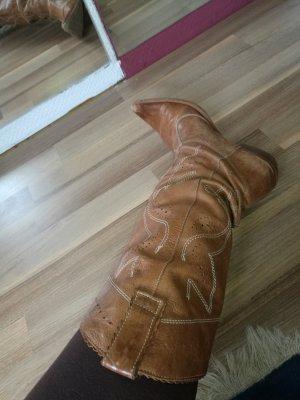 Leder Cowboy Stiefel Echtleder