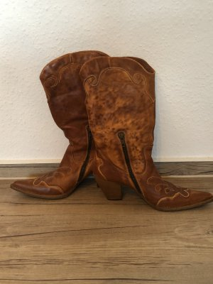 Boots western brun