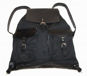 Backpack Trolley black leather