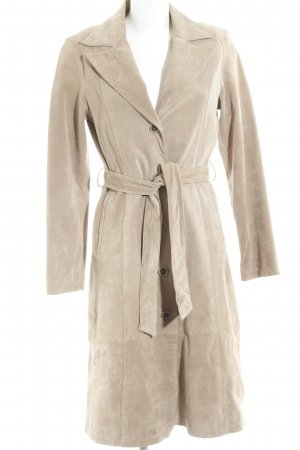Leder Emotion Ledermantel beige Casual-Look