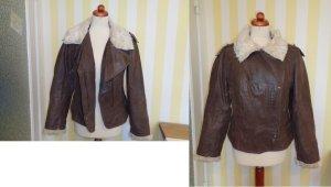 Clockhouse Flight Jacket brown-natural white