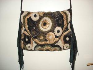 Antik Batik Fringed Bag multicolored leather