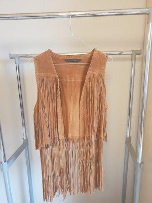 Zara Smanicato in pelle bronzo-marrone Pelle