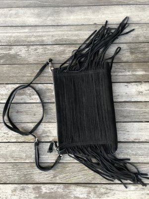 Zign Tas met franjes zwart Leer