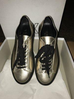 Leder Gold Schuhe