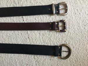 Leather Belt black-bordeaux leather