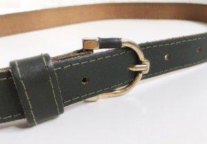 Belt khaki-gold-colored leather