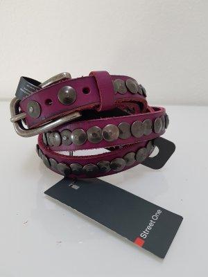 Street One Cinturón de pinchos magenta-rojo frambuesa Cuero