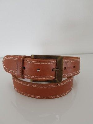 Street One Cintura di pelle marrone-cognac