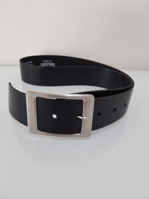 Vanzetti Cinturón de cuero negro