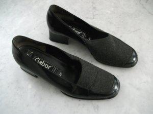 Leder Halbschuhe / Business Schuhe von Gabor, Gr. 37 (4 1/2), schwarz