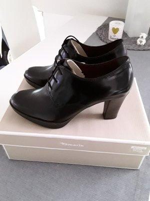 Tamaris Escarpins à lacets noir cuir