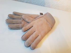 Leder Handschuhe Beige