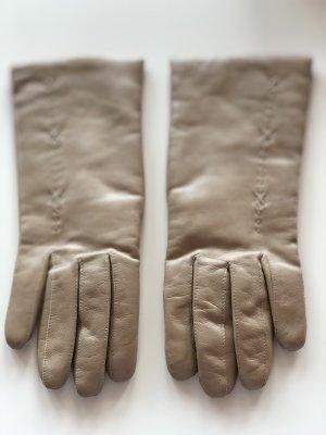 Leren handschoenen camel Leer