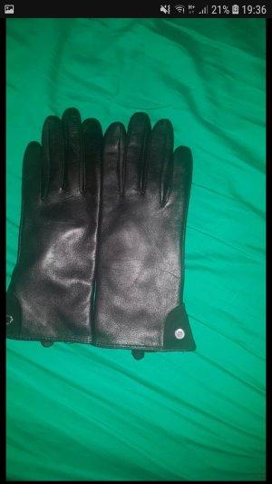 Leder Handschuhe mit Lammfell