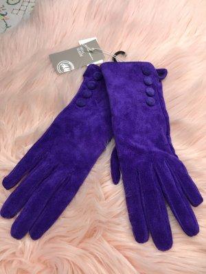 H&M Gants en cuir violet