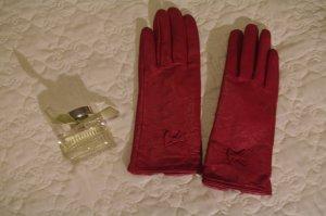 Leren handschoenen magenta