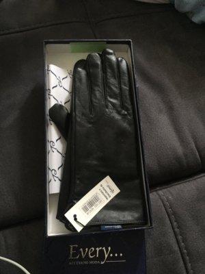 Leder Handschuhe schwarz aus Italien Gr.M