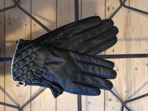 Leather Gloves white-black leather