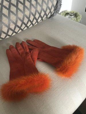 Leder Handschuhe top Zustand