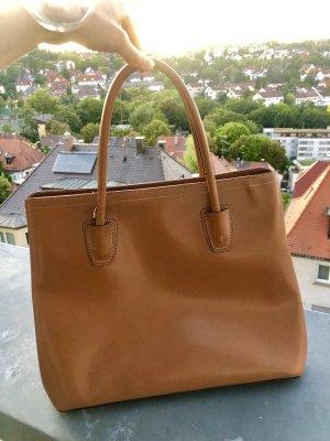 Leder Handtasche cognac