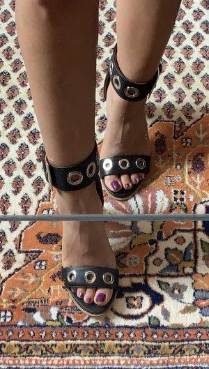 Leder High Heel Sandalette